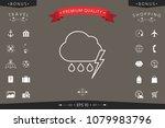 cloud thunderstorm lightning... | Shutterstock .eps vector #1079983796