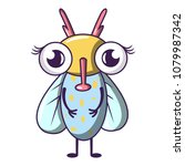 buzz fly icon. cartoon... | Shutterstock .eps vector #1079987342