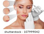 concept skincare. skin of... | Shutterstock . vector #107999042