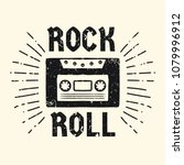 rock and roll music poster.... | Shutterstock .eps vector #1079996912