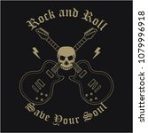rock and roll music poster.... | Shutterstock .eps vector #1079996918