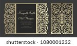laser cut panel design. floral... | Shutterstock .eps vector #1080001232
