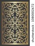 floral wall decor. ornamental...   Shutterstock .eps vector #1080002672