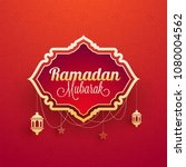 stylish text ramadan mubarak... | Shutterstock .eps vector #1080004562