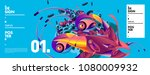 banner design template with... | Shutterstock .eps vector #1080009932