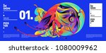 banner design template with... | Shutterstock .eps vector #1080009962