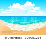 beautiful tropical beach with a ... | Shutterstock .eps vector #108001295