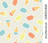 seamless texture with ice cream | Shutterstock .eps vector #108001808