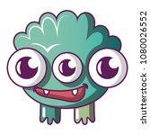 big monster icon. cartoon... | Shutterstock .eps vector #1080026552