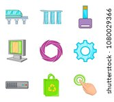 cordless portable icons set....   Shutterstock .eps vector #1080029366