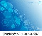 abstract hexagonal structure of ... | Shutterstock .eps vector #1080030902
