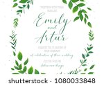 wedding floral invitation ... | Shutterstock .eps vector #1080033848