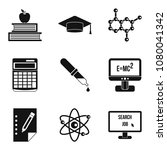 fiscal year icons set. simple... | Shutterstock . vector #1080041342