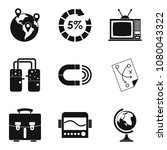 fiscal icons set. simple set of ... | Shutterstock . vector #1080043322