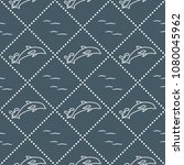 seamless pattern with dolphins  ... | Shutterstock .eps vector #1080045962