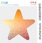 star polygonal symbol.... | Shutterstock .eps vector #1080049895