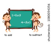 opposite to add and to subtract ...   Shutterstock .eps vector #1080054356