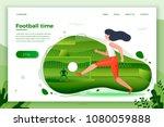 vector illustration   girl... | Shutterstock .eps vector #1080059888