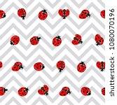 ladybug seamless pattern ... | Shutterstock .eps vector #1080070196