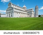 leaning tower of pisa  italy | Shutterstock . vector #1080080075