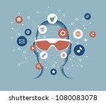 cyberspace  big data ... | Shutterstock .eps vector #1080083078
