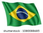 brazil flag. isolated national...   Shutterstock .eps vector #1080088685