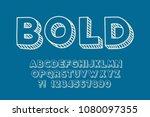 geometric chalk font 3d effect... | Shutterstock .eps vector #1080097355