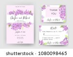 save the date card  wedding... | Shutterstock .eps vector #1080098465