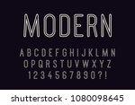 geometric line font modern... | Shutterstock .eps vector #1080098645