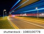 traffic at night | Shutterstock . vector #1080100778