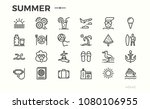 summer vacation icons. sun  sea ... | Shutterstock .eps vector #1080106955