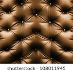 Brown Leather Texture Of Sofa...