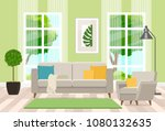 interior design of the living... | Shutterstock .eps vector #1080132635