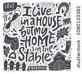 i live in a house  but my home... | Shutterstock .eps vector #1080133382