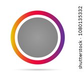 round icon. vector illustration. | Shutterstock .eps vector #1080135332
