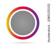 round icon. vector illustration. | Shutterstock .eps vector #1080135332
