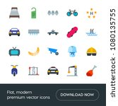 modern simple set of transports ... | Shutterstock .eps vector #1080135755