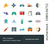 modern simple set of transports ... | Shutterstock .eps vector #1080136712