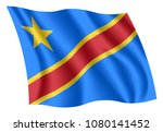 congo flag. isolated national... | Shutterstock .eps vector #1080141452