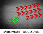 arrows pointing to an opposite... | Shutterstock . vector #1080150908