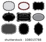 Stock vector vector set of original hand drawn vintage labels 108015788
