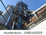 cement plant in devnya ... | Shutterstock . vector #1080160535