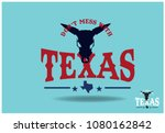 don't mess with texas  with... | Shutterstock .eps vector #1080162842