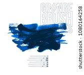 blue brush stroke and texture....   Shutterstock .eps vector #1080164258