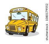 school bus illustration on a...   Shutterstock .eps vector #1080179552