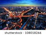 bangkok expressway and highway... | Shutterstock . vector #108018266
