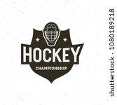 hockey logo. sport emblem ... | Shutterstock .eps vector #1080189218