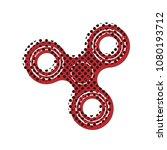 fidget spinner sign. vector.... | Shutterstock .eps vector #1080193712