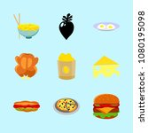 icons about food with breakfast ... | Shutterstock .eps vector #1080195098