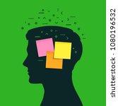 concept of memory loss. head... | Shutterstock . vector #1080196532